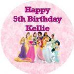 Personalised Edible Disney Princess Cake Topper